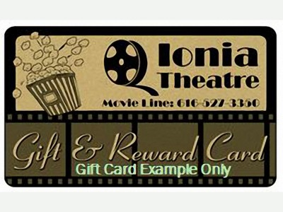 Ionia Theatre Gift and Reward Card
